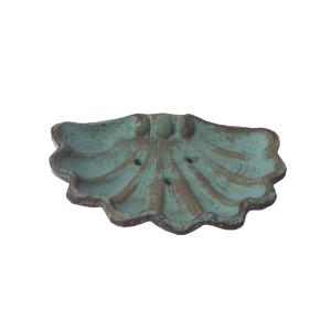 Jabonera concha antique_turquesa albayalde