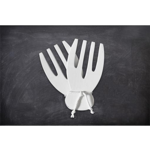 juego cucharones tenaza paleta blanco